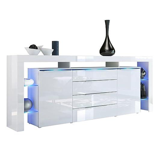 Affordable Finest Cool Beautiful Sideboard Kommode Lima Nova V Korpus In Wei  Matt Front In Wei Hochglanz Vladon Amazonde Kche U Haushalt With Kommoden  ...