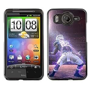 CASECO - HTC G10 - 22 Football Star - Delgado Negro Plástico caso cubierta Shell Armor Funda Case Cover - 22 Estrella de fútbol