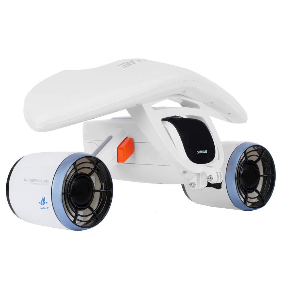 Sublue WhiteShark Mix Smart Electric Powered Underwater Scooter for Water Sports, Pool, Beach - Arctic White by Sublue
