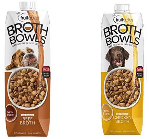 Fruitables Broth Bowls Pet Safe Natural Food Topper (Beef...