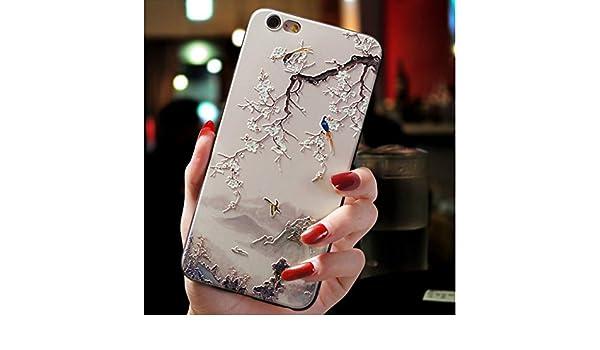 Amazon.com: KCHHA Phone case 3D Emboss TPU Cases for Samsung ...