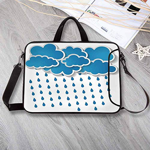 Forecast Bathroom Bath Light - Farmhouse Decor Lightweight Neoprene Laptop Bag,Trippy Convective Cloud Group Figures Like Savannah Forecast Drips Theme Laptop Bag for Laptop Tablet PC,15.4