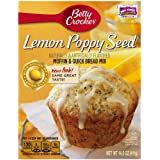 Betty Crocker Premium Muffin Mix, Lemon Poppyseed, 15.8-Ounce Boxes (Pack of 12)