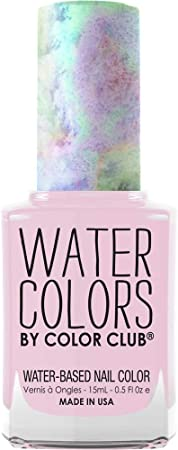 Color Club Nail Lacquer Off The Hook, Water Color Peel Off Collection, Dusty Pink Color .5 fl oz (15 mL)…