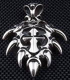 Rocker Spike Cross 925 Sterling Silver Mens Pendant