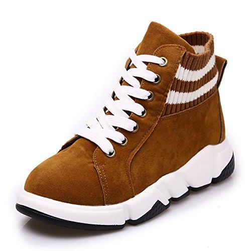 Snuggler Da Donna Casual Casual Sneaker Morbida Suola Alta Scarpe Da Passeggio Di Alta Moda Marrone