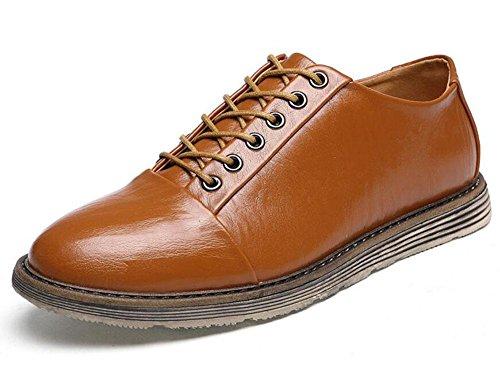 SHIXR Männer Sportschuhe tragen flachen Mund mit Klettern Schuhe rutschfeste Leder Schuhe , brown , 39