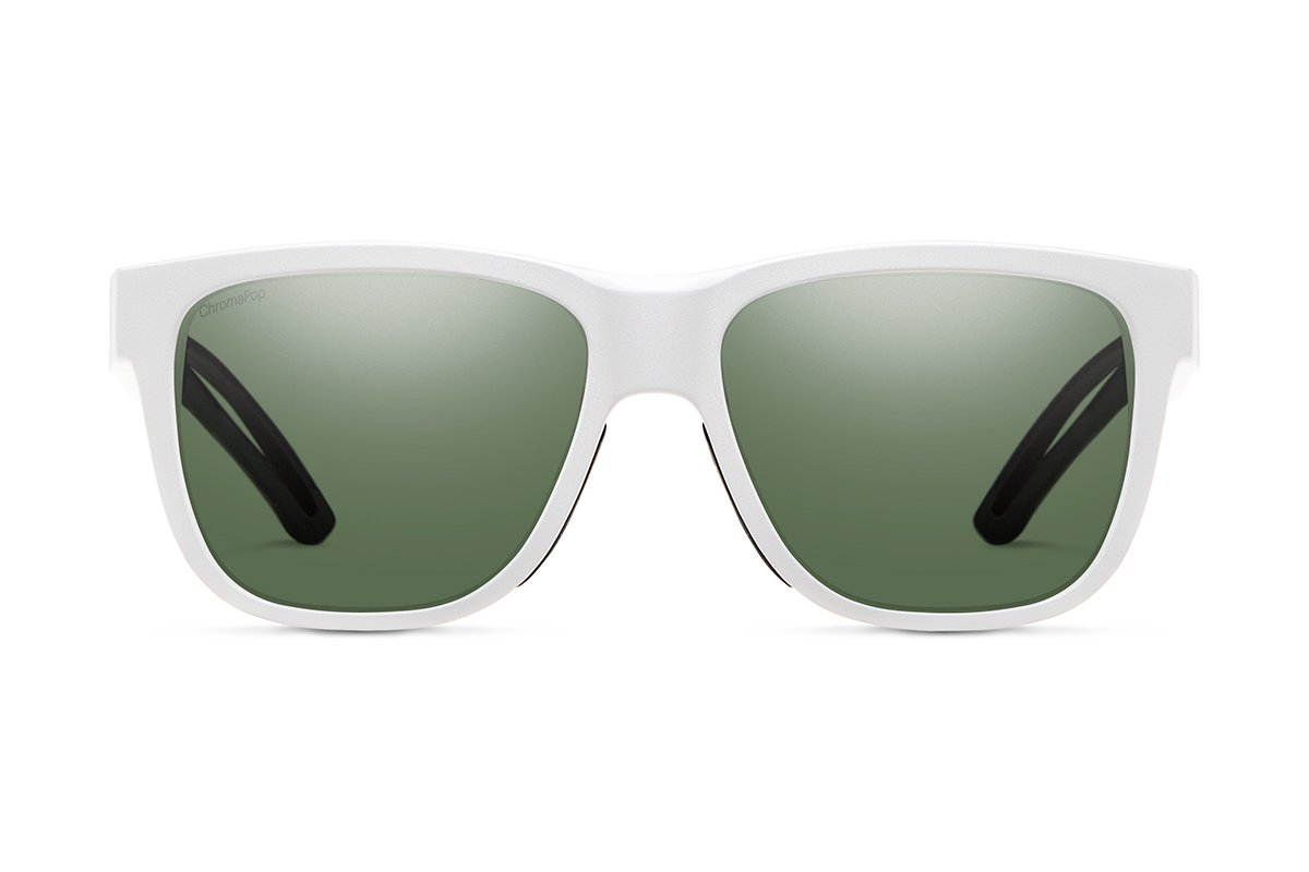 Smith Lowdown Focus Slim ChromaPop Sunglasses Matte White Smith Optics