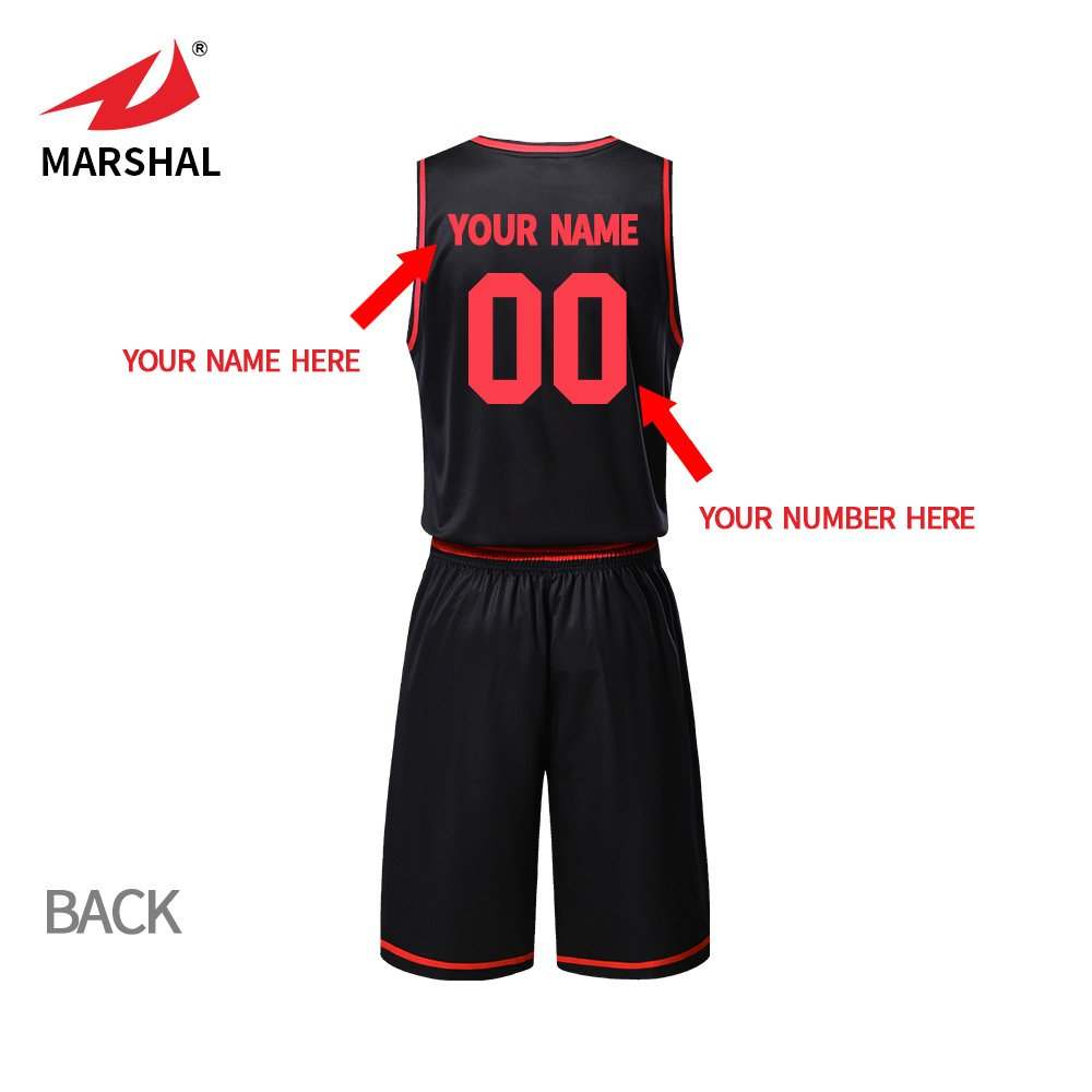 ffed79fc5 ZHOUKA mens black team uniforms custom sublimation basketball jersey set  design your name and logo  Amazon.co.uk  Sports   Outdoors