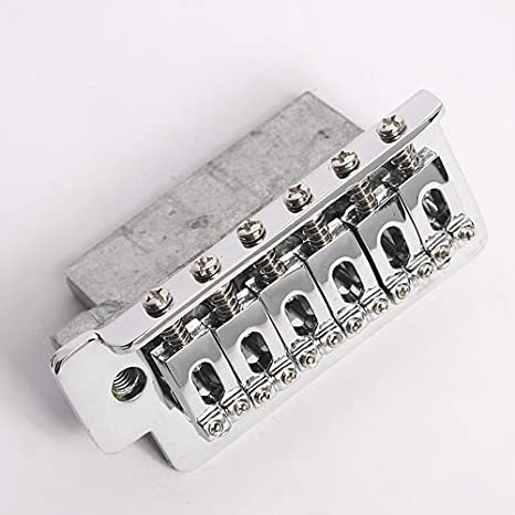 Amazon.com: Kmise Electric Guitar Tremolo Bridge Single Locking System For Fender Strat Guitar Parts Replacement (Chrome): Musical Instruments