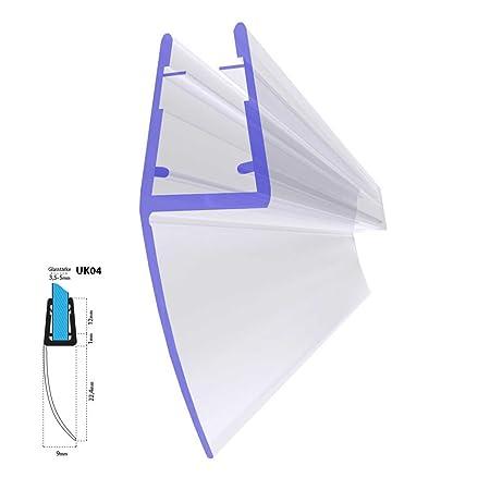 STEIGNER Duschdichtung, 80cm, Glasstärke 3,5/4/ 5 mm, Gerade PVC Ersatzdichtung für Dusche, UK04