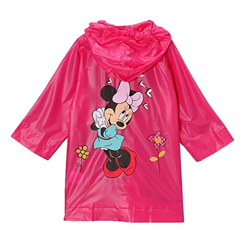Disney Minnie Mouse Girl's Pink Rain Slicker Size Small 2/3 Medium 4/5 and Large 6/7