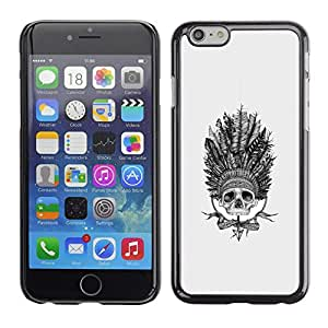 Ihec Tech India Plumas Jefe Sombrero Nativo / Funda Case back Cover guard / for Apple Iphone 6 Plus 5.5