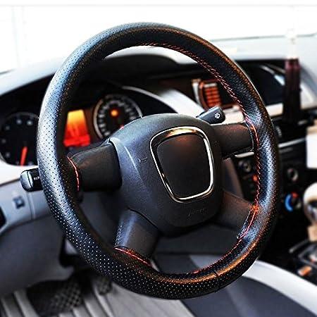 funda antideslizante con agujas e hilo Funda de piel sint/ética para volante de coche