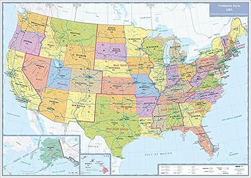 Usa Politische Karte 1 5 000 000 Planokarte Die 50