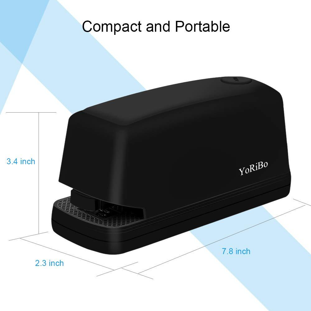pinzatrice automatica elettrica fornita con un adattatore Pinzatrice Yoribo capacit/à di 25 fogli utilizzo di graffette standard