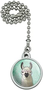 GRAPHICS & MORE Hip Llama with Glasses Ceiling Fan and Light Pull Chain