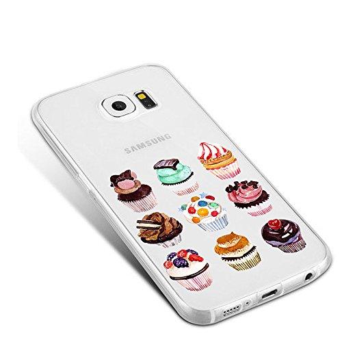 Funda Galaxy S7 Edge,Vanki® Carcasa Cubierta TPU Silicona Goma Suave Case Protection y Premium Clarity Cover Ultra Fino Anti-Arañazos para Samsung Galaxy S7 Edge-diseño original H