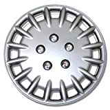 2009 toyota corolla s hubcaps - TuningPros WC-15-1023-S 15-Inches-Silver Improved Hubcaps Wheel Skin Cover Set of 4