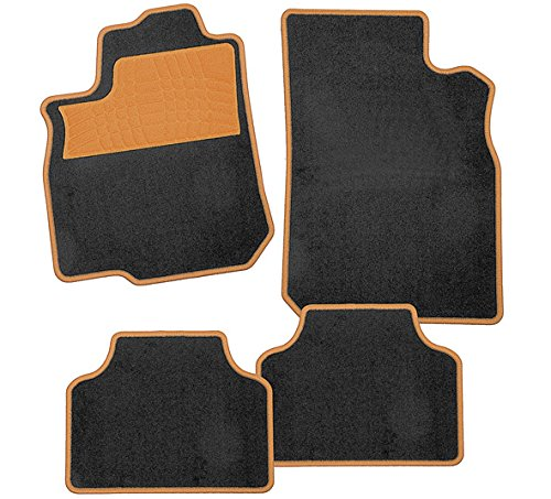 CarFashion 243190 Tapis de Sol pour Voiture sans Support Calypso-Textil, Rose, 4-Parties CarFashion (CATPX)