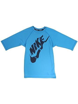 28d69c004 Amazon.com: Nike Big Boys Solid Light Blue Fury Half Sleeve Hydroguard  Shirt Swimwear Sz: XL: Clothing