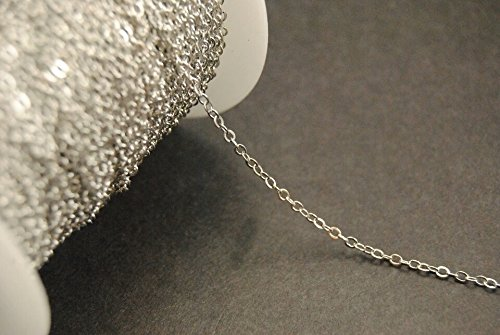 10ft-silver-plated-solid-brass-cable-chain-flat-oval-soldered-closed-links-lead-nickel-free-25mm