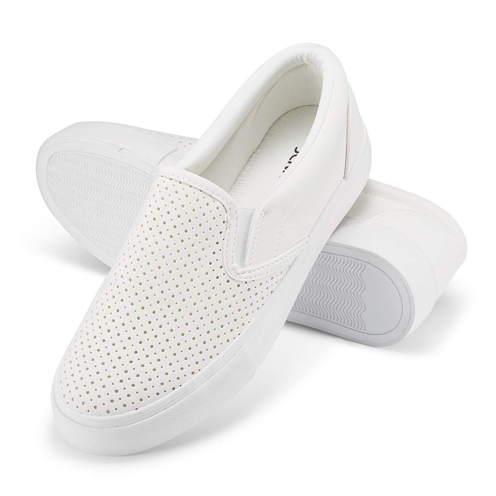 JENN ARDOR Women/'s Fashion Sneakers Perforated Slip on Flats Comfortable Walking Casual Shoes/…
