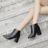 Hemlock Lady High Heels Boots Martens Shoes Pointed Toe Wedding Shoes Zipper Martin Boots Ankle Booties