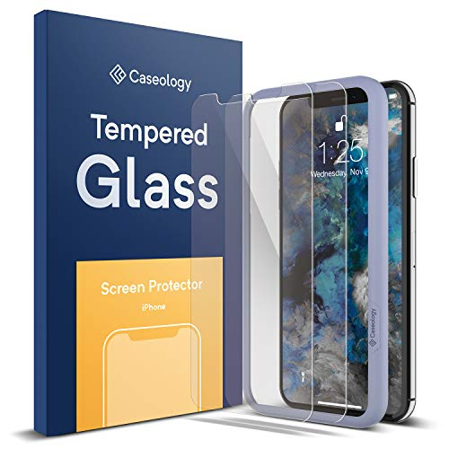 Caseology [Screen Protector] iPhone Xs/iPhone X Tempered Glass - 2 Pack