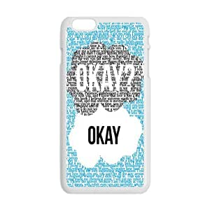 Super Okay Okay Art Apple iPhone 6 5.5inches Ultra Fit Clear Soft Case Shock-Absorption For iPhone 6 Plus(Plastic)-White And Black