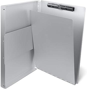 Letter Size Office Medical Staff Metal Clipboard Document Holder Storage Box
