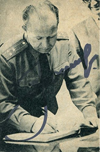 VOSKHOD 2 COSMONAUT Alexey Leonov autograph, signed magazine picture