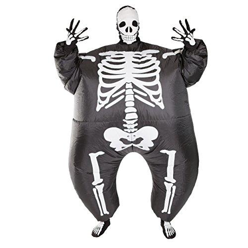 Bodysocks Adult Inflatable Skeleton Fancy Dress Costume