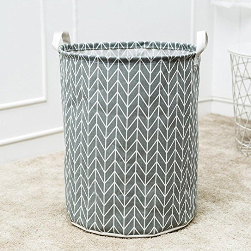 Laundry Basket Foldable Clothes Basket Large Canvas 40 35cm Laundry Hamper Collapsible Storage Box (C)