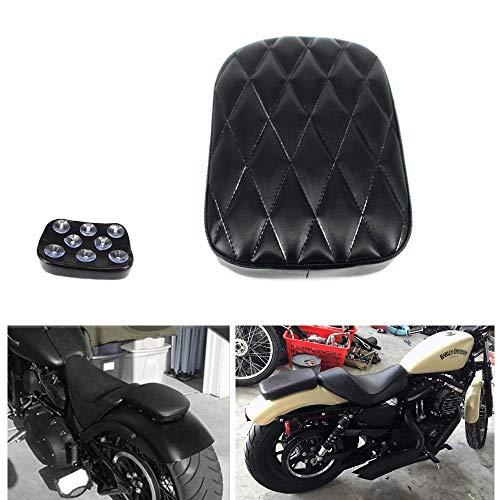 GUAIMI Universal Pillion Pad Seat 8 Suction Cup For Harley Dyna Sportster Softail Touring XL 883 1200 Chopper Cruisers Motorcycles - Diamond