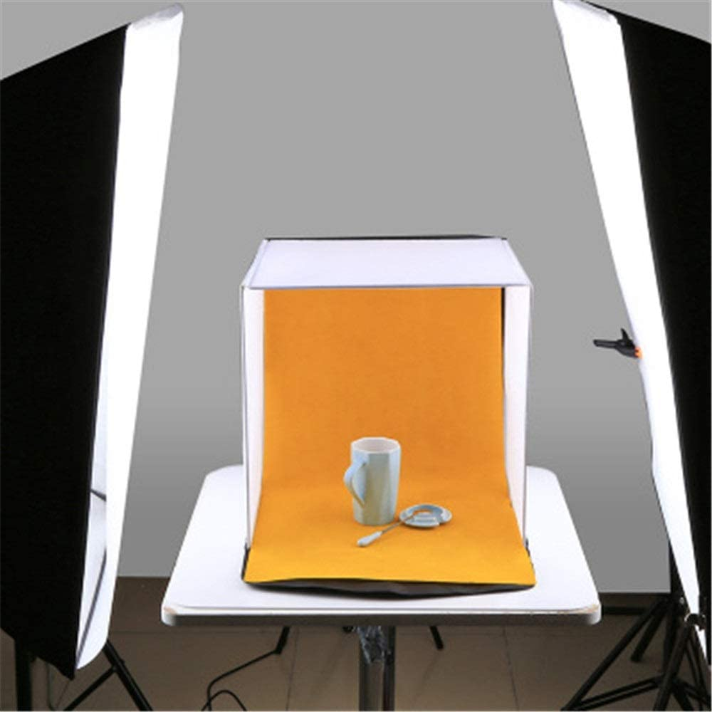Photo Studio Box 40cm Folding Studio Shooting Tent Box Photo Softbox Portable Kits with 5 Colors Backdrops Red, Orange, Blue, White, Black Shooting Tents