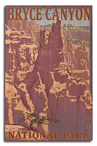 (Lantern Press Bryce Canyon National Park, Utah - Scene #1 (10x15 Wood Wall Sign, Wall Decor Ready to Hang))
