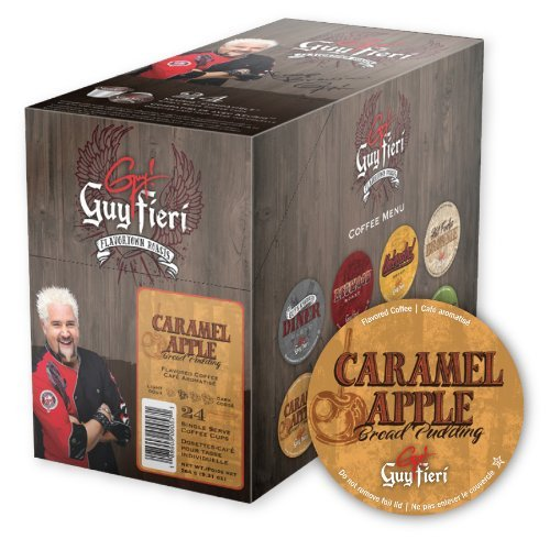 Caramel Bread Pudding - Guy Fieri Coffee for K-cup Brewers - Caramel Apple Bread Pudding - 96 ct.