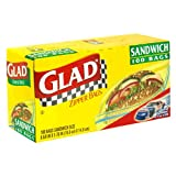 Glad Zipper Sandwich Bags – 100Bags.