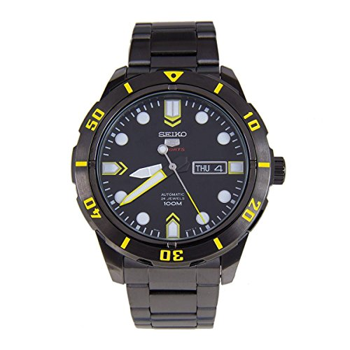 Seiko-5-Sports-SRP679-Mens-Black-IP-Stainless-Steel-100M-Automatic-Watch