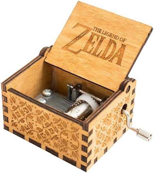 Zelda Bo/îte /À Musique En Bois Classique Bo/îte /À Musique Cadeau Danniversaire /À Commande Manuelle /À Manivelle Classique Antique Carved D/écorative Music Box Carving Musique Classique