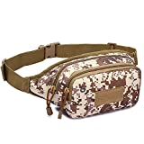 XMCOWAYOU Military Fanny Pack Tactical Waist Bag Pack...