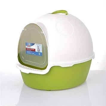 Bandeja de Basura para Gatos Caja de Arena con autolimpieza Ultra autolimpiante Litterbox para Mascotas Totalmente Cerrada Olor higiénico para Gatos (Color ...