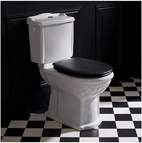 Planetebain Pack WC Retro de Mesa de Porcelana Blanco con Asiento ...