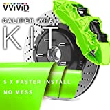 VViViD Enamel Paint Wrap High Temperature Vinyl Film For Calipers (Atomic Lime Green)