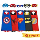 iGearPro Cartoon Dress up Costumes Satin Capes Set with Felt Masks for Boys