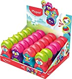 Maped Loopy Totem Duo Eraser and Sharpener (Box of 24 in Assorted Colours)