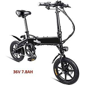 51AQRoNVoZL. SS300 Drohneks Bici elettrica, Bici elettrica Pieghevole 25KM / H 250W Ebike con Batteria agli ioni di Litio da 7,8 Ah, 3…