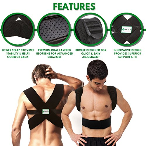 Back-up | Comfortable & Effective Posture Corrector for Women & Men | Clavicle & Shoulder Brace | Back Support | Lower & Upper Back Pain Relief | Cervical & Lumbar Support - Fully Adjustable by Raitera Health & Wellness (Image #5)