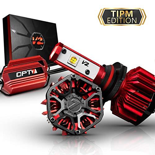 OPT7 FluxBeam 9005 LED Headlight Kit w/Clear ARC-LENS Beam Bulbs & TIPM Resistor Kit - 60w 7,000Lm 6K Cool White CREE- for Dodge, Ram, Jeep, Chrysler